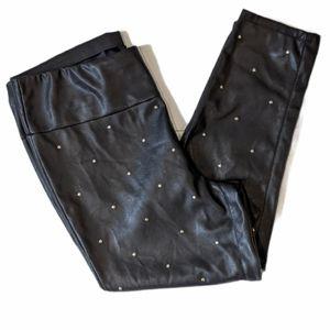 Michel Studio faux leather studded leggings sz 20
